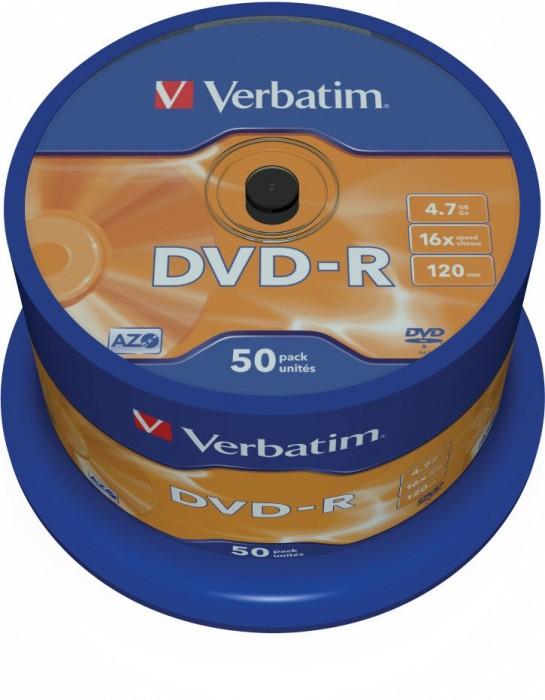 Verbatim DVD-R 4.7GB 16x, 50er Spindel (43548)