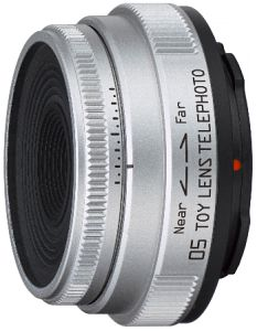 Pentax Q 05 Toy lens telephoto 18mm 8.0 silver (22117)