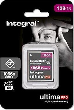 Integral ultima PRO UDMA7 R160/W135 CompactFlash Card 1066x 128GB (INCF128G1066X)