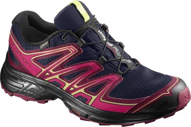 Salomon Wings Flyte 2 GTX evening blue/beet red/sunny lime (ladies) (399714)