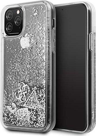 Guess Hard Cover Glitter Hearts für Apple iPhone 11 Pro silber (GUHCN58GLHFLSI) -- via Amazon Partnerprogramm