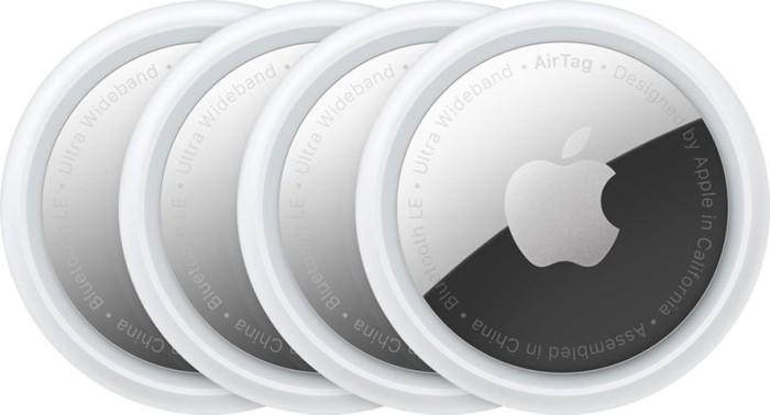 Bild von Apple AirTag weiß/silber, 4er-Pack (MX542ZM/A)