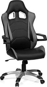 HJH Office Racer Pro I Gamingstuhl, schwarz/grau (621835)