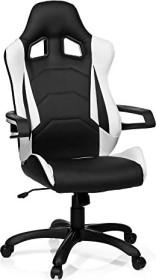HJH Office Racer Pro I Gamingstuhl, schwarz/weiß (621836)