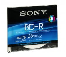 Sony BD-R 25GB 6x, 1er Slimcase printable (BNR25SL)