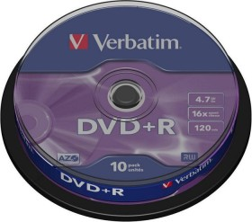 Verbatim DVD+R 4.7GB 16x, 10er Spindel (43498)