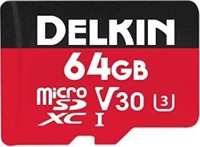 Delkin Select 500X R100/W50 microSDXC 64GB Kit, UHS-I U1, Class 10 (DDMSD50064G)