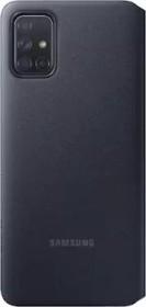 Samsung S-View Wallet Cover für Galaxy A71 schwarz (EF-EA715PBEGEU)