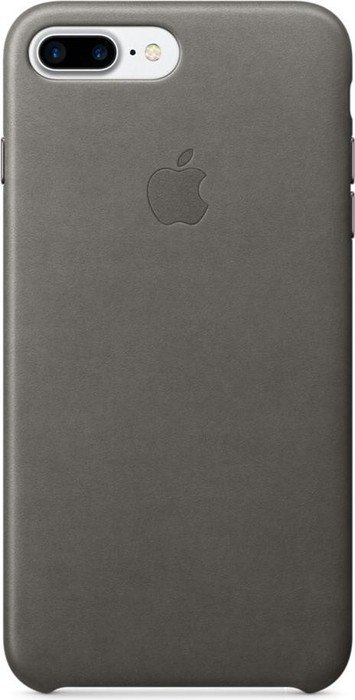 apple leder case f r iphone 7 plus sturmgrau mmye2zm a. Black Bedroom Furniture Sets. Home Design Ideas