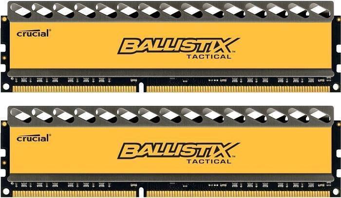 Crucial Ballistix Tactical DIMM Kit 8GB, DDR3-1600, CL8-8-8-24 (BLT2CP4G3D1608DT1TX0CEU)