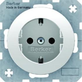 Berker socket SCHUKO, polar white shiny (47432089)
