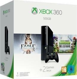 Microsoft New Xbox 360 Slim E - 500GB Fable Anniversary und Plants vs. Zombies: Garden Warfare Bundle (3M4-00012)