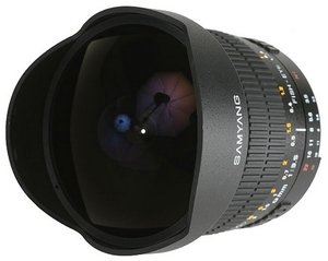 Samyang lens 8mm 3.5 Asph IF MC fisheye for Sony/Konica Minolta