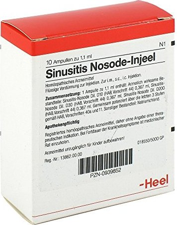 Heel Sinusitis Nosode Injeel ampoules, 10 pieces
