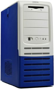 Chieftec Apollo AL-01BL/AL-03BL Midi-Tower, blue (various Power Supplies)