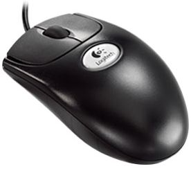 Logitech OEM B58 Premium Optical Wheel Mouse schwarz, PS/2 & USB (930995-1600)