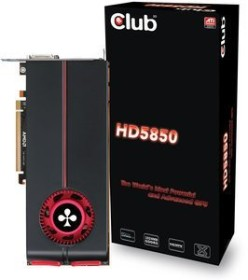 Club 3D Radeon HD 5850, 1GB GDDR5, 2x DVI, HDMI, DP (CGAX-58524IDP)
