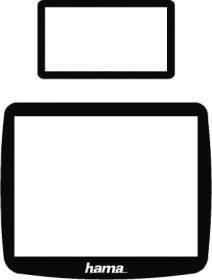 Hama LCD-Schutzglas Set für Nikon D80 (88622)