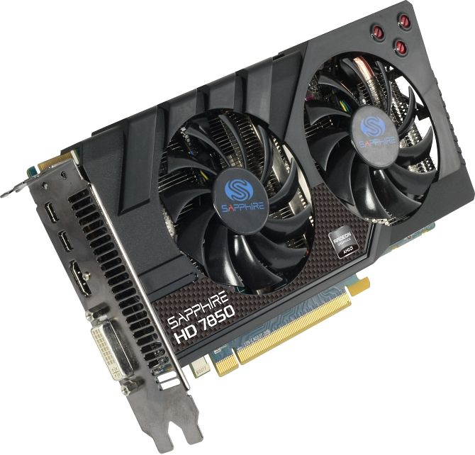 Sapphire Radeon HD 7850, 2GB GDDR5, DVI, HDMI, 2x mini DisplayPort, lite retail (11200-00-20G)