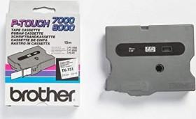 Brother TX-151 label-making tape 24mm, black/transparent (TX151)