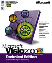 Microsoft Visio 2000 Technical Edition Schulversion (PC) (D88-00009)