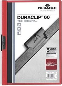 Durable Duraclip 60 Klemm-Mappe A4, rot (220903)