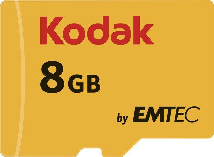 Kodak R85/W20 microSDHC 580X 8GB Kit, UHS-I U1, Class 10 (EKMSDM8GHC10K)