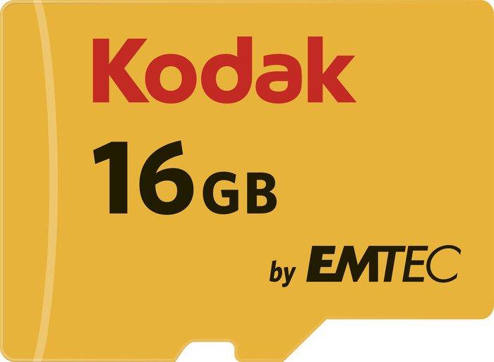 Kodak R85/W20 microSDHC 580X 16GB Kit, UHS-I U1, Class 10 (EKMSDM16GHC10K)