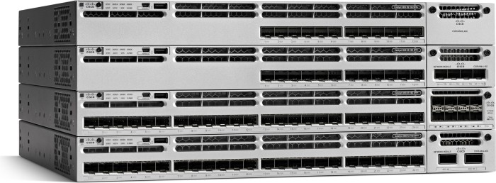 Cisco Catalyst 3850 IP Base Rackmount Gigabit Managed Stack Switch, 48x RJ-45, 1x Modul-Slot, 800W UPoE (WS-C3850-48U-S)