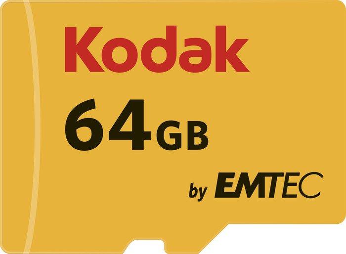 Kodak R85/W20 microSDXC 580X 64GB Kit, UHS-I U1, Class 10 (EKMSDM64GXC10K)