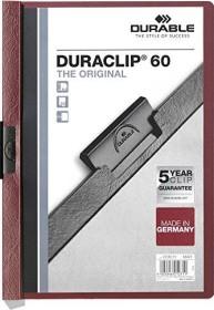 Durable Duraclip 60 Klemm-Mappe A4, dunkelrot (220931)