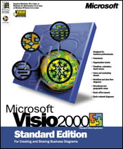 Microsoft: Visio 2000 Standard Edition Schulversion (PC) (D86-00011)