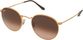 Ray-Ban RB3447 Round Metal 53mm polished bronze-copper/pink-brown gradient (RB3447-9001A5)