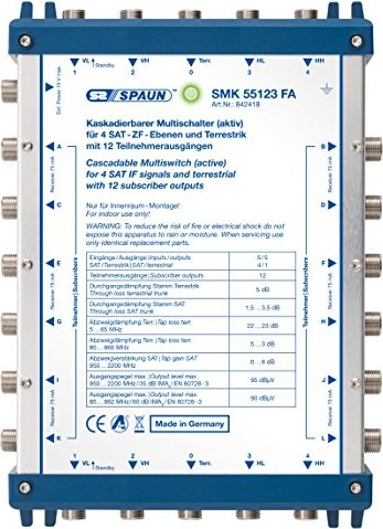 Spaun SMK 55123 FA cascade multi-switch -- via Amazon Partnerprogramm
