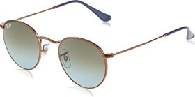 Ray-Ban RB3447 Round Metal 47mm polished bronze-copper/blue-brown gradient (RB3447-900396)