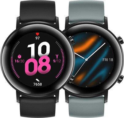 Huawei Watch GT 2 Sport 42mm schwarz mit Sportarmband lake cyan (55024507)
