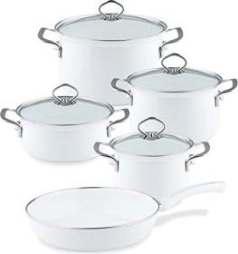 Riess enamel Nouvelle arctic white Cookware set, 5-piece. (0558-033)