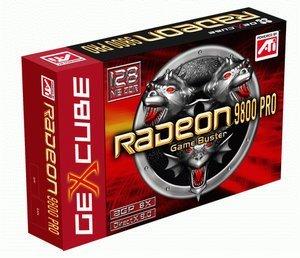 GeCube Radeon 9800 Pro, 256MB DDR2, DVI, TV-out, AGP (GC-R9800-PRO-D3)