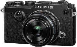 Olympus PEN-F schwarz mit Objektiv M.Zuiko digital 17mm 1.8 (V204063BE000)