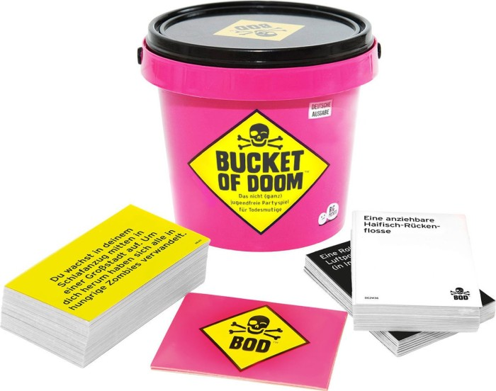 Bucket of Doom Toxic Edition An Adult Party Game with High Stakes and Scary Smells