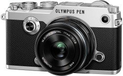 Olympus PEN-F silber mit Objektiv M.Zuiko digital 17mm 1.8 (V204063SE000)