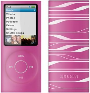 Belkin Sonic Wave silicone sleeve for iPod nano 4G pink/white (F8Z379eaPKW)
