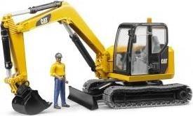 Bruder Profi-Serie CAT Minibagger mit Bauarbeiter (02466)