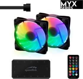 Speedlink Myx LED Fan kit, 120mm, 2-pack (SL-600606-MTCL)