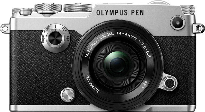 Olympus PEN-F silber mit Objektiv M.Zuiko digital 14-42mm EZ (V204061SE000)