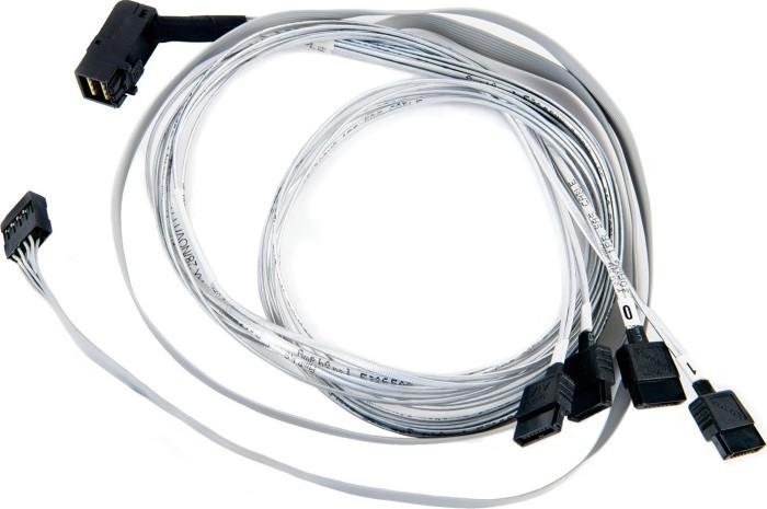 Adaptec mini SAS HD x4 [SFF-8643] auf 4x SATA [SFF-8643] Kabel, 0.8m (2280000-R)