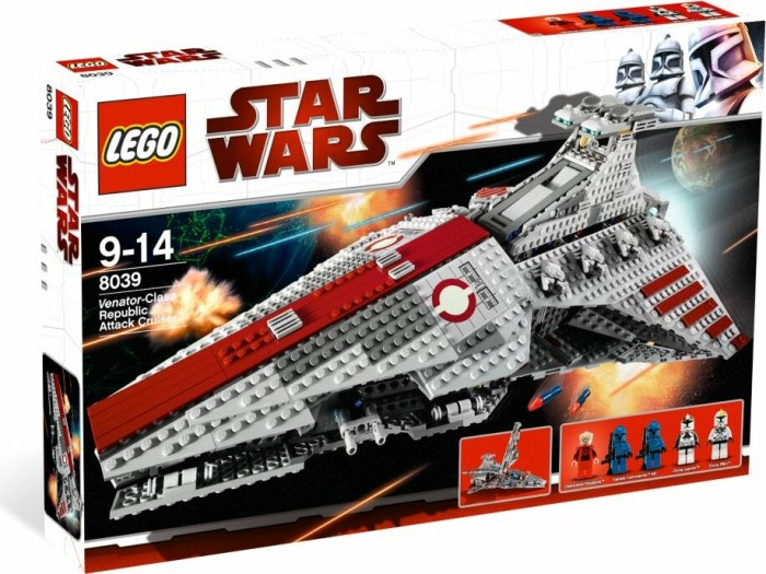 LEGO - Star Wars Episodes I-VI - Venator-Class Republic Attack Cruiser (8039) -- via Amazon Partnerprogramm
