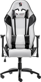 SilentiumPC SPC Gear SR300 Gamingstuhl, weiß/schwarz (SPG003)