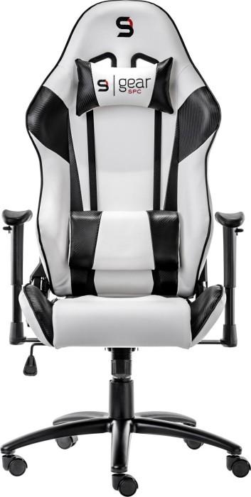 SilentiumPC SPC Gear SR300 gaming chair, white/black (SPG003)