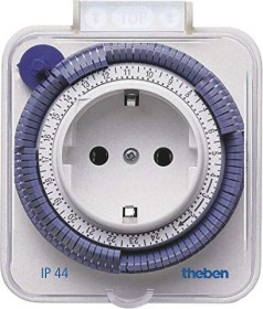 Theben timer 26 IP44 analog outdoor daily timer (0260855)